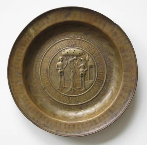 6: European brass platter