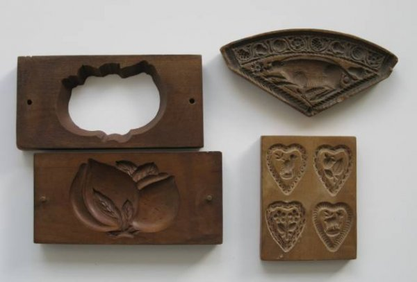 29: 20 wooden cookie molds, 20th c. - 5