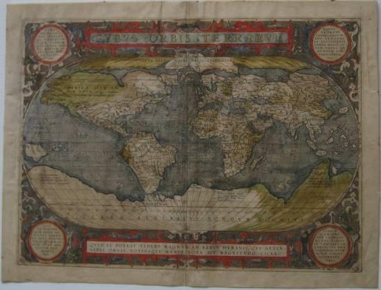 238: 18th c. Map - Typus Orbis Terrarum