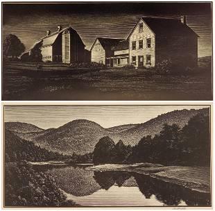 2 Asa Cheffetz wood engravings