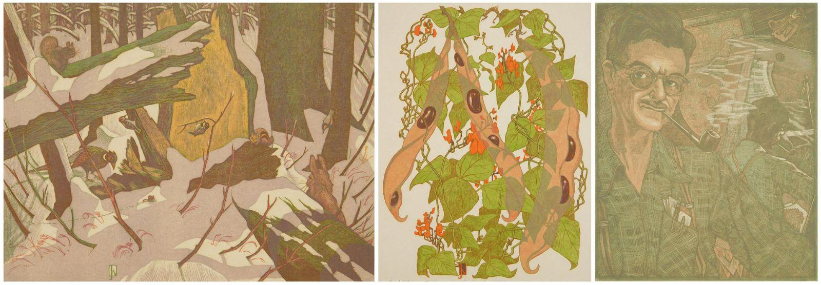 3 James D. Havens woodcuts