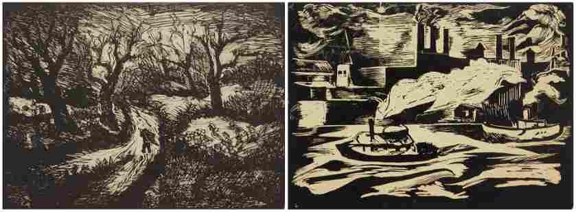2 Luise Kainz wood engravings