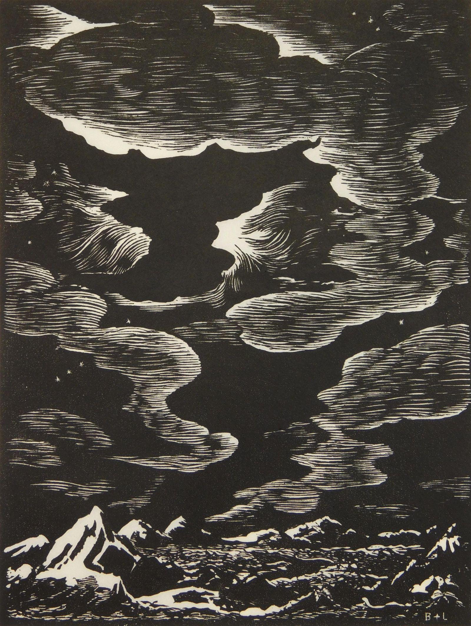 J. J. Lankes and C. Burchfield wood engraving