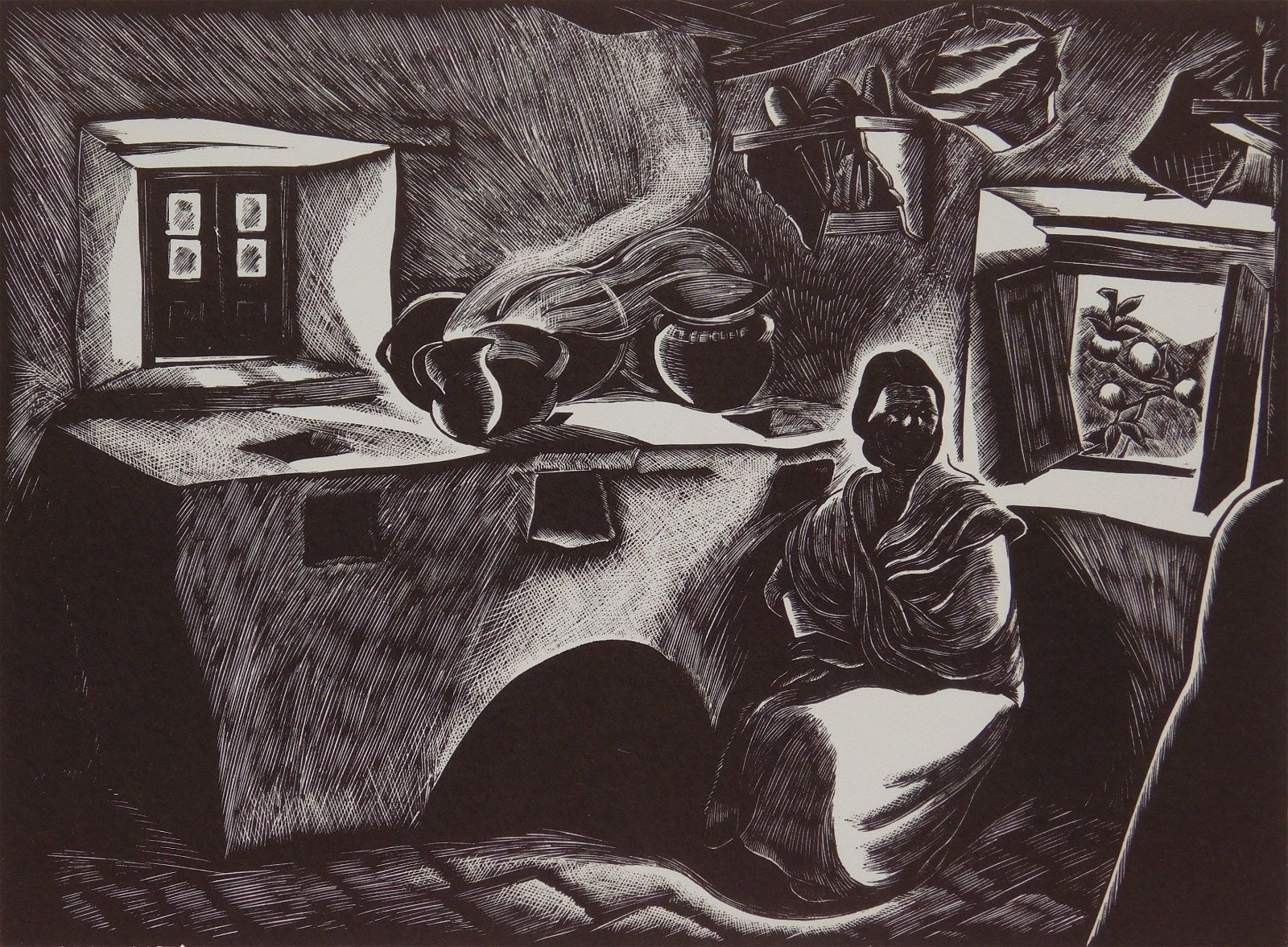 Barbara Latham wood engraving