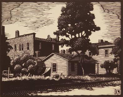 Herschel Logan woodcut