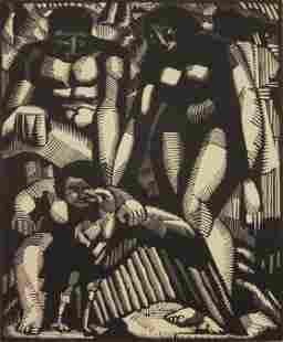 John J. A. Murphy woodcut