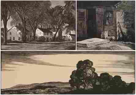 3 Thomas Nason wood engravings