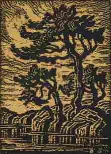 Birger Sandzen woodcut