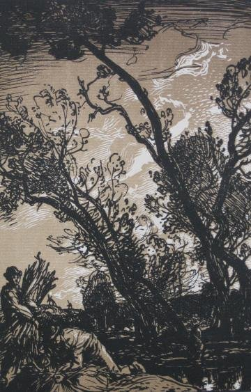 4: 19/20th c. European School woodcut