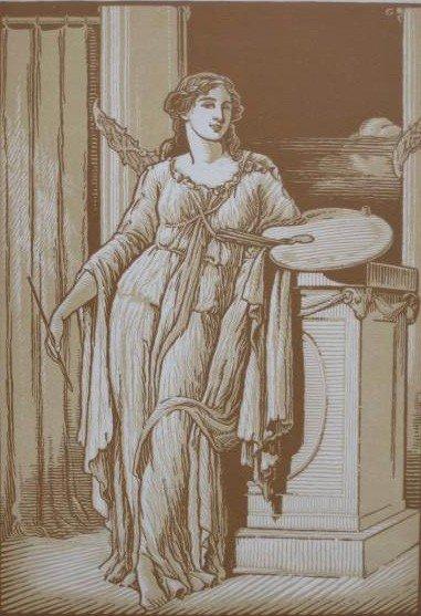 18: 20th c. American School woodcut