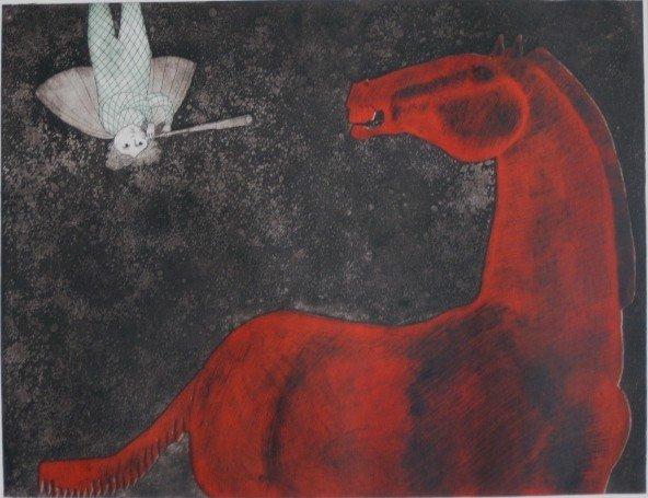354: Leticia Tarrago etching