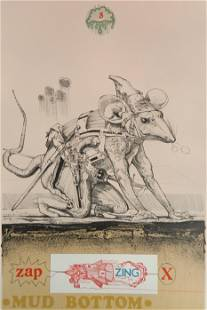 Robert A. Nelson lithograph and collage