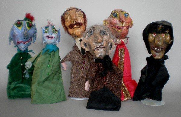 13: Papier mache puppets