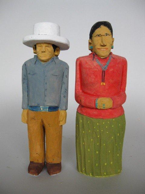 23: Johnson Antonio wood sculptures