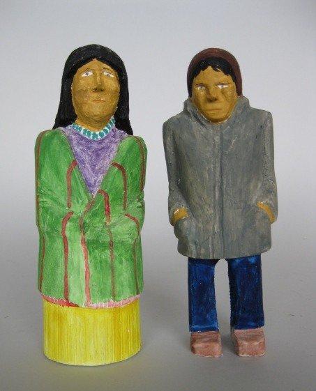 24: Johnson Antonio wood sculptures