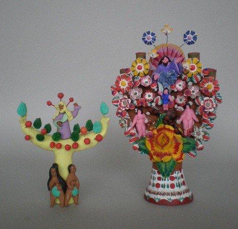 39: 2 Mexican terra cotta sculptures