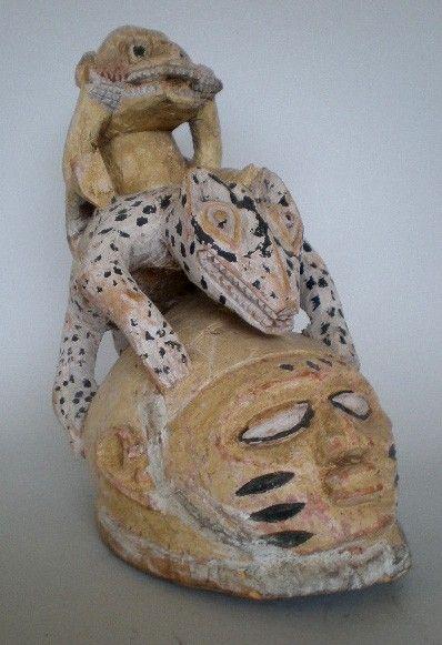 43: Yoruba gelede headdress