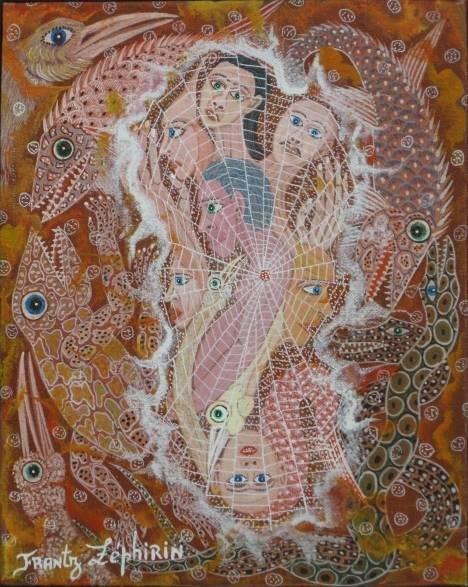 445: Frantz Zephirin oil painting