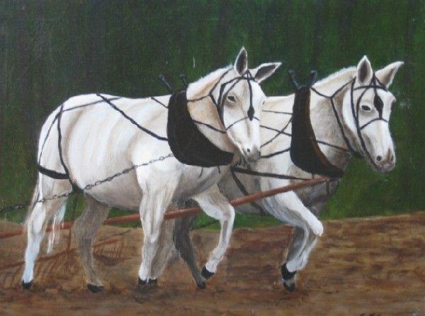 E. Thomas oil painting