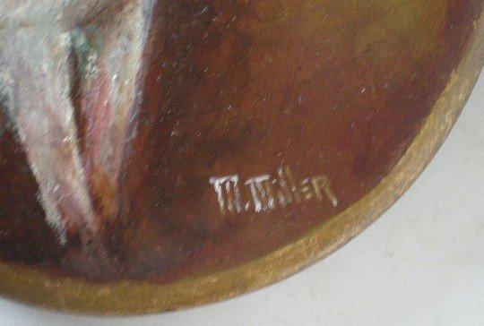 636: M. Miller oil painting - 2