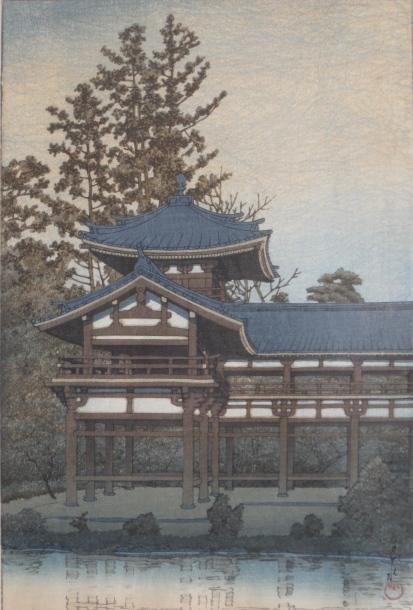 7: Kawase Hasui woodblock in colors