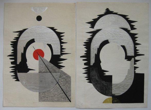 12: Reiko Iwami 2 woodcuts in colors