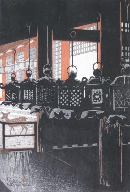 13: Shiro Kasamatsu woodblocks in colors (2)