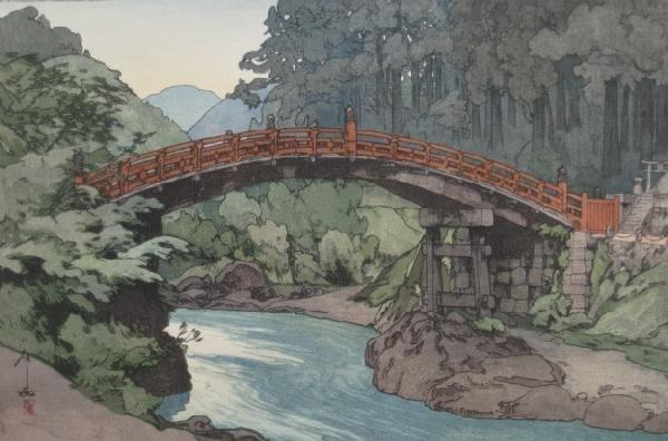 24: Hiroshi Yoshida woodblock in colors