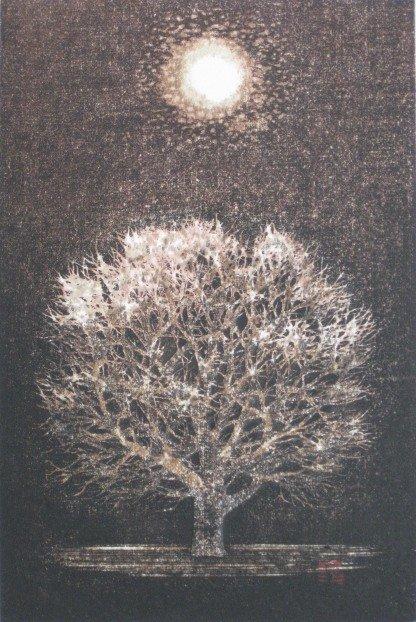 57: Joichi Hoshi woodcut