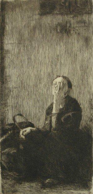 433: Kathe Kollwitz etching