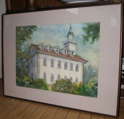 704: E. Shankland watercolor Kirtland temple