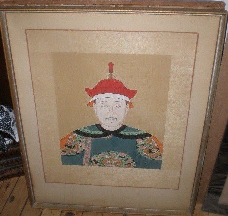 705: Pair of Chinese ancestral portraits