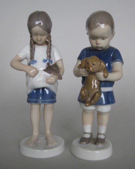 723: 2 Bing & Grondahl Porcelain figurines