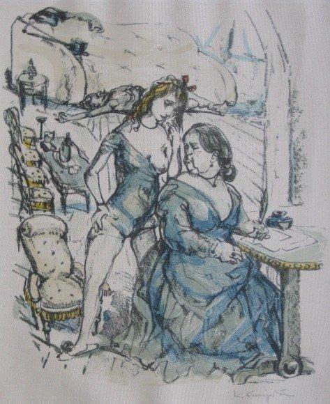 1: Leonard Tsuguharu Foujita lithograph