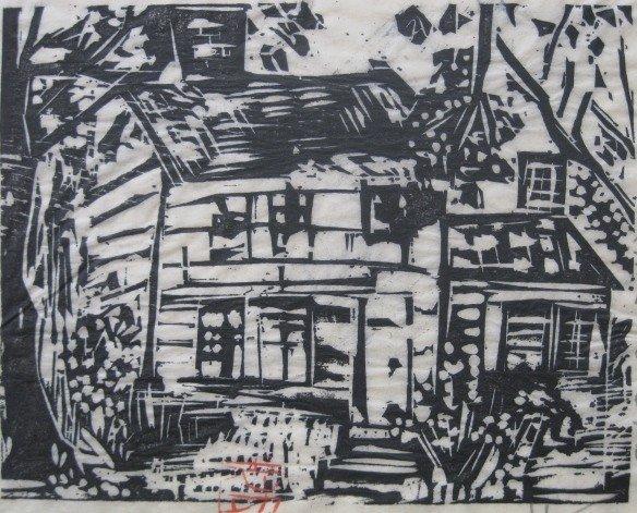 12: Shiko Munakata woodcut