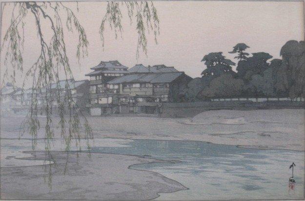 18: Hiroshi Yoshida woodblock
