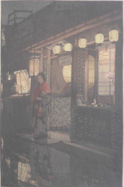 19: Hiroshi Yoshida woodblock