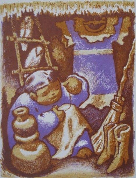 71: Jean Charlot lithograph
