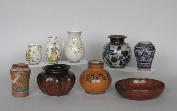 8: 20th c. Mexican and Austrian pottery