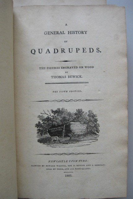 10: Thomas Bewick- A General History of Quadrupeds