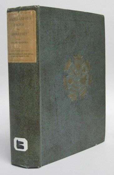 21: Sir Wm. Stirling-Maxwell- Miscellaneous Essays