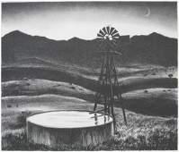 215: Peter Hurd lithograph