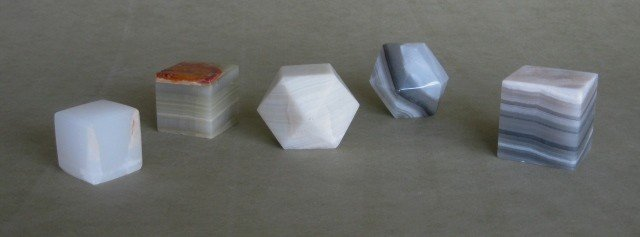 1: 6 Marble paperweights