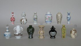5: 13 Miniature Japanese vases