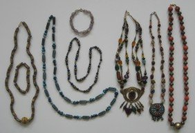 6: 6 Beaded necklaces and 2 bracelets