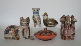 8: 11 20th c. Mexican ceramic figurines