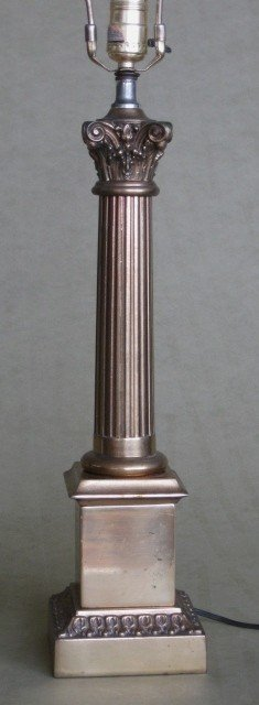 9: 20th c. Brass table lamp