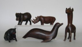 14: 11 Wooden figures of animals