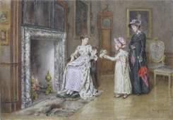 185: George Goodwin Kilburne watercolor