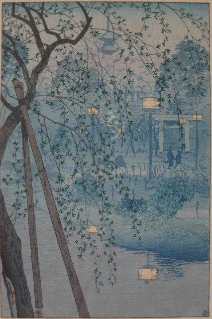17: Shiro Kasamatsu woodblock